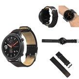 Rode lederen horlogeband horlogeband voor 47 mm Amazfit GTR smartwatch