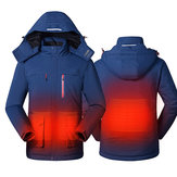 Smart USB Electric Washable Heating Coats Hoodie Jacket Winter Warm Coat