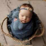Projetos Neonatais Cesta Trançada Infantil Foto de Bebê Recém-nascido Quadro Trançado Decorações