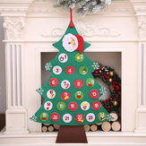 Felt Countdown to Christmas Advent Calendar Xmas Tree Gift Wall Hanging Decorations