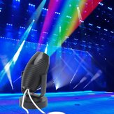 1W RGB LED Colorful Stage Lamp Black Shell Spot Light for Disco KTV Party AC110-220V