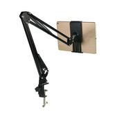 Bureau Réglable 180 ° Paresseux Tablet Stand Support de Téléphone Support Durable Clip pour Smart Phone Tablet Avec Largeur Entre 12 cm et 18 cm