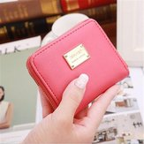 Women Mini Short Wallet Card Holder Leather Coin Bag Money Purse Handbag Clutch
