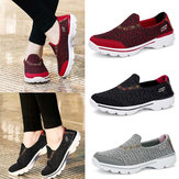 Fashion Women's Knitting Casual Wedge Shake Running Shoes Sport Breathable Platform Outdoor Sneakers