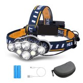 OUTERDO 3300LM 8Modes 8LED Rechargeable Headlamp Flashlight Waterproof LED Head Torch Head Light for Camping Fishing Car Repair Cycling