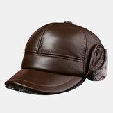 Chapeau homme en cuir épais et chaud