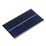 5pcs 6V 1W 60 * 110mm Mini tablero policristalino del panel Solar de epoxy para DIY aprendizaje