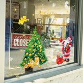 Miico SK9243 Рождество Стикер Окна Рождественская Елка Стены Стикеры Съемный Для Новогоднего Украшения