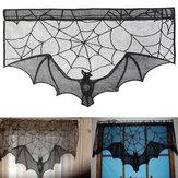 Halloween morcego rendas adereços candeeiro de mesa cortina janela lareira pano casa decorações