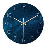 Loskii CC020 Yaratıcı Yıldızlı Desen Duvar Saat Dilsiz Duvar Saat Kuvars Duvar Saat Ev Ofis Süslemeleri Için