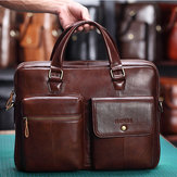 Men Genuine Leather Handbag Crossbody Bag Messenger Bag