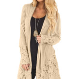 Womens Cardigan Long Sleeve Sweater Lace Coat