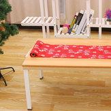 Decorazioni per la tavola della fibra del poliestere delle tovaglie della bandiera della tavola dell'albero di Natale XMAS