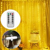 3M*1M 3M*3M USB LED Curtain Window String Light with Hook Up Icicle Garland Christmas Wedding Lamp Decor