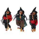 Halloween Hanging Witch Horror Voice Piscando Olhos Vermelhos Party Decor Haunted House Decorations