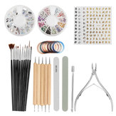 Nail Art Set Manicure Tool Paint brush Dust Brush Nail Art Decoration Nail Tape Line Buffer Files