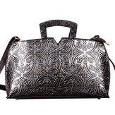 Kvinder Håndarbejde Knurling Retro Original Læder Håndtasker Crossbody Bag