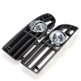 Bumper Grille Grill Driving Fog Lamp Lights for VW JETTA BORA MK4