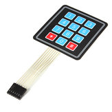 4 x 3 Matrix 12 Key Array Membrane Switch Keypad Keyboard Geekcreit for Arduino - products that work with official Arduino boards