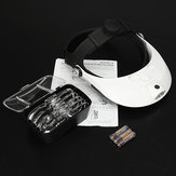 Headbrand LED Head Light Magnifier Lupa Lupa 5 Lente