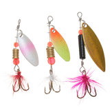 ZANLURE 30x Metal Diverse Laser Fishing Lure Spinner Baits Feather Hook Set