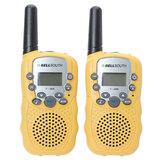 T-388 0.5W UHF Auto Multi-Channels Mini Radios Walkie Talkie Geel