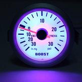 Auto Car Mechanical Boost Vacuum Gauge Autometer Ultra Lite Silver