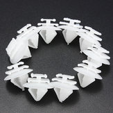 10x External Door Trim Bump Rub Strip Clips for Citroen Peugeot