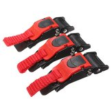 3x Plastic Motorcycle Clip Chin Strap Quick Release Buckle Autocycle