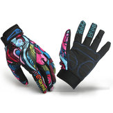 Motorcycle Racing Biker Full Finger Gloves Skeleton Skull Bone
