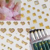 15 dicas de estilo de arte transferência arte do prego brilho dourado água etiqueta do prego