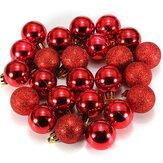 24 stuks Candy Color Plastic Kerstboom Sieraden Ornamentballetjes