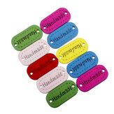Legno 23x11mm 10pcs bottoni fatti a mano scrapbooking pulsanti mestiere cucire