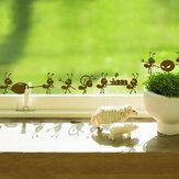 Honana DX-013 formigas em movimento decorativo parede arte adesivos preto marrom verde