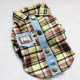 Pet Clothes Classic Checked Shirt