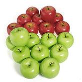 人工リンゴホームパーティー装飾偽レッドグリーンリンゴフルーツ野菜