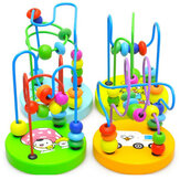 Baby Houten Speelgoed Mini Rond Kralen Wire Maze Educatieve Game Bauble