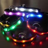 Size L Nylon Safety Flashing Glow Light LED Pet Dog Collar