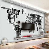 DIY Büyük Dünya Haritası Duvar Çıkartması İngilizce Alfabe Çıkarılabilir Duvar Çıkartmaları Decal