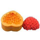 R0461 силиконовые роз сердце помадной торт плесени конфеты формы
