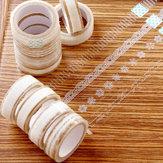 Laço de fita transparente floral fita decorativa do laço de fita do laço claro