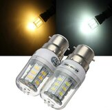 B22 5W 24 SMD 5730 Warm White/White LED Corn Light Bulbs AC 110V