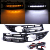 Paar Front Grille Grille 6 LED Tagfahrlicht Lamp For VW For Volkswagen For Passat