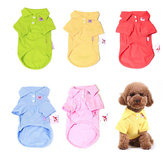 Yani HP-PC1 Multi-Colours Pure Cotton Zwierzę domowe Clothes Koszulka polo Dog Cat Clothing