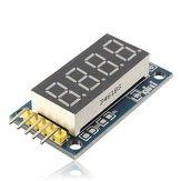 2Pcs 4 Bits رقمي أنبوب LED عرض وحدة المجلس مع ساعةحائط