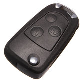 Three Button Flip Folding Remote Key Shell Case For Ford Focus Mondeo