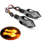 12 LED moto tour clignotants orange Lampe bleue