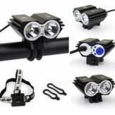 2xCREE U2 LEDサイクリングバイクヘッドライトヘッドランプフロントライト