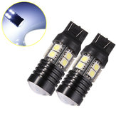 T20 Q5+12 SMD 5050 LED Car Brake Tail Turn Light Bulb
