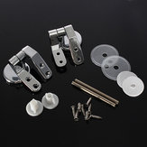 Replacement Toilet Seat Hinge Set Chrome Hinge With Fittings